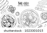hand drawn illustration of thai ... | Shutterstock .eps vector #1023301015