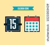 calendar icons set | Shutterstock .eps vector #1023303439