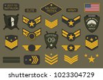 military badges and army...