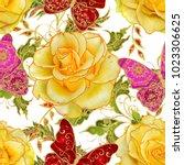 seamless pattern. vertical... | Shutterstock . vector #1023306625