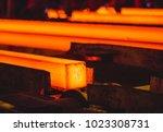 hot billet  bloom  continuous... | Shutterstock . vector #1023308731