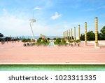 barcelona  spain   august 25 ... | Shutterstock . vector #1023311335
