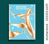3d flow interesting abstract... | Shutterstock .eps vector #1023311635