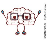 comic brain kawaii character | Shutterstock .eps vector #1023312067