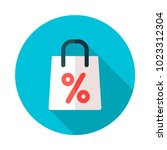 shopping bag with percent...