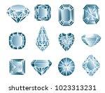 vector set of diamond design... | Shutterstock .eps vector #1023313231