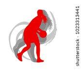 basketball female silhouette... | Shutterstock .eps vector #1023313441