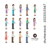 group of people characters | Shutterstock .eps vector #1023315367
