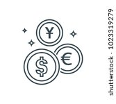 money market icon | Shutterstock .eps vector #1023319279