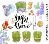nowruz holiday vector design... | Shutterstock .eps vector #1023321715