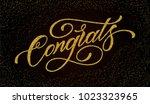 congratulations card. hand... | Shutterstock .eps vector #1023323965