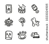 icons hand drawn toys. vector... | Shutterstock .eps vector #1023324505