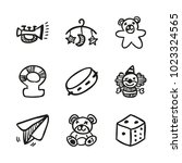icons hand drawn toys. vector... | Shutterstock .eps vector #1023324565
