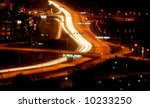 cars at night with motion blur | Shutterstock . vector #10233250