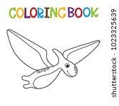 cute dino coloring book. | Shutterstock .eps vector #1023325639