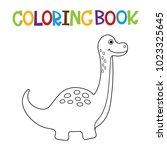cute dino coloring book. | Shutterstock .eps vector #1023325645