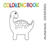 cute dino coloring book. | Shutterstock .eps vector #1023325651