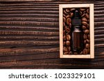 essential oil of coffee beans... | Shutterstock . vector #1023329101