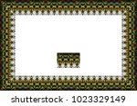 border or frame of abstract... | Shutterstock . vector #1023329149