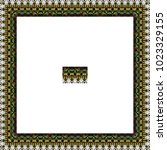 border or frame of abstract... | Shutterstock . vector #1023329155