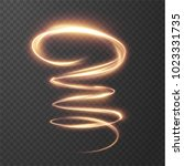 glowing shiny spiral lines... | Shutterstock .eps vector #1023331735