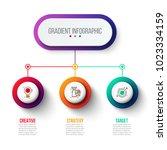 abstract gradient infographics... | Shutterstock .eps vector #1023334159