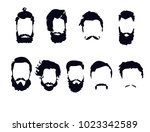 hair for creating a man's image | Shutterstock .eps vector #1023342589