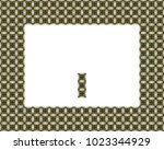 border or frame of abstract... | Shutterstock . vector #1023344929