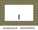border or frame of abstract... | Shutterstock . vector #1023344941