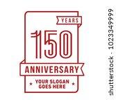 150th anniversary logo. vector... | Shutterstock .eps vector #1023349999