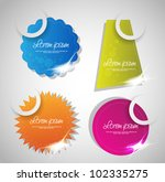set of bright colorful stickers | Shutterstock .eps vector #102335275