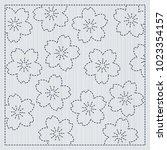 sakura flowers in the frame.... | Shutterstock .eps vector #1023354157