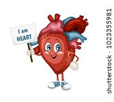 cartoon illustration of a heart.... | Shutterstock .eps vector #1023355981