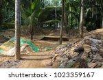 sapphire gemstone mining in... | Shutterstock . vector #1023359167