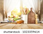 easter table with spring... | Shutterstock . vector #1023359614