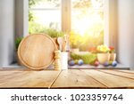 easter table with spring... | Shutterstock . vector #1023359764