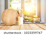 easter table with spring... | Shutterstock . vector #1023359767