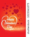 happy valentines day | Shutterstock .eps vector #1023361075