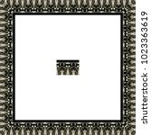 border or frame of abstract... | Shutterstock . vector #1023363619
