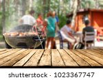 grill and landscape  | Shutterstock . vector #1023367747