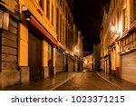 bruges  belgium   june 11  2014 ... | Shutterstock . vector #1023371215