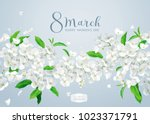 modern floral vector  art  ... | Shutterstock .eps vector #1023371791
