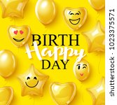 vector birthday background... | Shutterstock .eps vector #1023375571