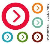 arrow icons circle set vector...