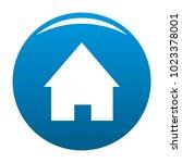 home icon vector blue circle...