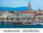 seafront view at old city... | Shutterstock . vector #1023382261