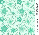 vector floral seamless pattern. ... | Shutterstock .eps vector #1023383485