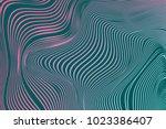 wavy stripes. trendy curve... | Shutterstock .eps vector #1023386407