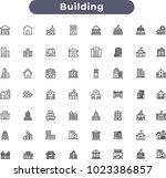building icons set | Shutterstock .eps vector #1023386857