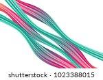 wavy abstraction. wave liquid.... | Shutterstock .eps vector #1023388015